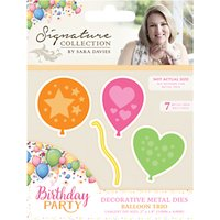 Crafters Companion Birthday Balloon Metal Dies, Pack of 3