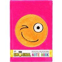 Emoji Fluffy Notebook, Pink