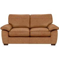 John Lewis Camden Leather Medium 2 Seater Sofa Bed with Foam Mattress, Dark Leg
