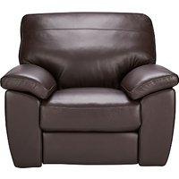 John Lewis Camden Leather Recliner Chair, Dark Leg
