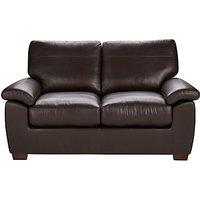 John Lewis Camden Leather Small 2 Seater Sofa, Dark Leg