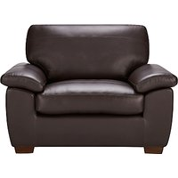John Lewis Camden Leather Snuggler, Dark Leg