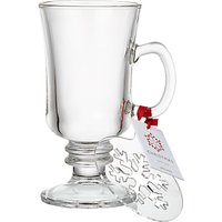 John Lewis Hot Drink Glass and Snowflake Stencil, 230ml
