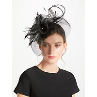 John Lewis Crin Diamante Fascinator, Black