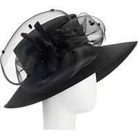 John Lewis Meryl Shantung Occasion Hat, Black