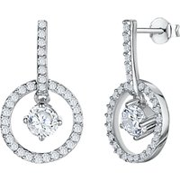 shop for Jools by Jenny Brown Cubic Zirconia Circular Drop Earrings, Silver at Shopo
