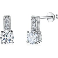 shop for Jools by Jenny Brown Cubic Zirconia Panelled Drop Earrings, Silver at Shopo