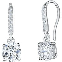 Jools by Jenny Brown Cubic Zirconia Hinged Hook Earrings, Silver