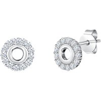 Image of Jools by Jenny Brown Cubic Zirconia Open Round Stud Earrings, Silver