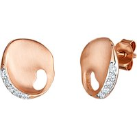 Jools by Jenny Brown Satin Plated Cubic Zirconia Earrings, Rose Gold