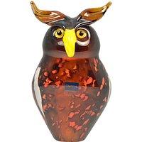 Svaja Oswald Owl Glass Ornament, Brown