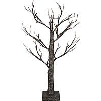 John Lewis & Partners Pre-Lit Tree, 60cm, Black