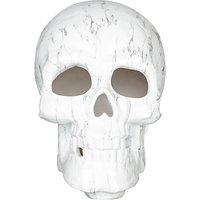 John Lewis White Marble Light-Up Skull