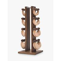 NOHrD by WaterRower Swing Bell Weights Tower Set, Walnut