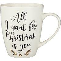 John Lewis Winter Palace All I Want For Christmas Mug, 370ml