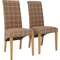 John Lewis Audley Upholstered Dining Chairs, Set of 2, Sable/Honey