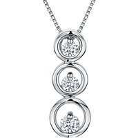 shop for Jools by Jenny Brown Cubic Zirconia Three Tiered Circle Necklace, Silver at Shopo