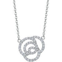 shop for Jools by Jenny Brown Cubic Zirconia Swirled Links Necklace, Silver at Shopo