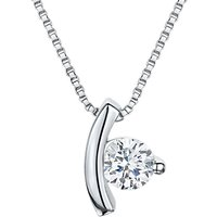 shop for Jools by Jenny Brown Cubic Zirconia Suspended Drop Necklace, Silver at Shopo