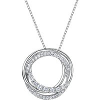 Jools by Jenny Brown Cubic Zirconia Hooped Circles Necklace, Silver