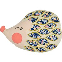 Christy Hetty Hedgehog Embroidered Cotton Blend Cushion