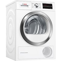 Bosch WTW85470GB Condenser Tumble Dryer with Heat Pump, 8kg Load, A++ Energy Rating, White