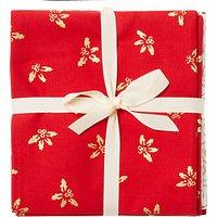 John Louden Traditional Fat Quarter Fabrics, Pack of 5, Red/Cream