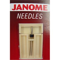 Janome Twin Sewing Machine Needle, Size 14