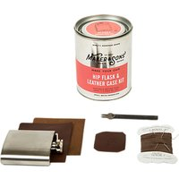 Mens Society Make Your Own Hip Flask And Leather Case Kit