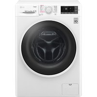 LG F4J6TY0WW Freestanding Washing Machine, 8kg Load, A+++ Energy Rating, 1400rpm Spin, White