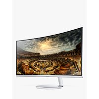 Samsung C34F791WQN Curved Ultra Wide Quad HD Quantum Dot Monitor, 34