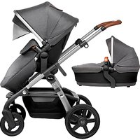 Silver Cross Wave Pushchair and Carrycot, Granite