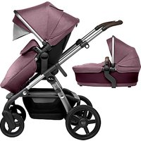 Silver Cross Wave Pushchair and Carrycot, Claret