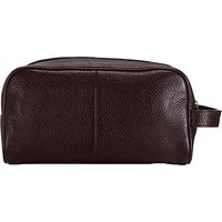 John Lewis and Partners Katta Aniline Leather Wash Bag