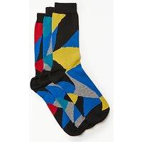 Kin by John Lewis Ripple Socks, Pack of 3, One Size, Multi