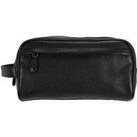 John Lewis & Partners Katta Aniline Leather Wash Bag
