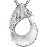 shop for Jools by Jenny Brown Sterling Silver Cubic Zirconia Pendant Necklace, Silver at Shopo