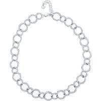 shop for Jools by Jenny Brown Cubic Zirconia Linked Circles Necklace, Silver at Shopo