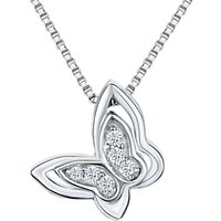 Jools by Jenny Brown Cubic Zirconia Butterfly Necklace, Silver