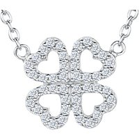 shop for Jools by Jenny Brown Cubic Zirconia Mirrored Hearts Necklace, Silver at Shopo