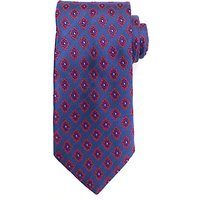 John Lewis Diamond Motif Silk Tie, Blue/Pink
