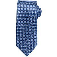 John Lewis Cross Dot Silk Tie, Blue/Orange