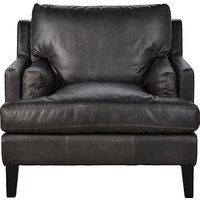 Halo Canson Leather Armchair, Riders Black