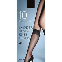 John Lewis & Partners 10 Denier Ladder Resist Knee High Socks, Pack Of 2