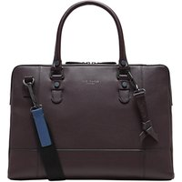 Ted Baker Jager Leather Document Bag, Purple
