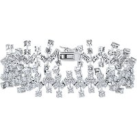 shop for Jools by Jenny Brown Abstract Cubic Zirconia Bracelet, Silver at Shopo