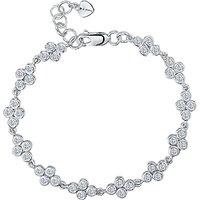 Jools by Jenny Brown Cubic Zirconia Cluster Bracelet, Silver