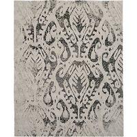 west elm Turkish Ikat Shine Rug, L244 x W152cm, Silver