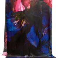 Ted Baker Ivian Bloom Silk Scarf, Black/Multi
