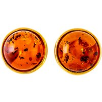 Be-Jewelled Amber Round Stud Earrings